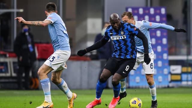 Romelu Lukaku lors de la victoire face à la Lazio Rome
