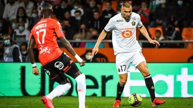 Yilmaz lors du match de Lille à Lorient