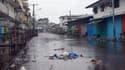 Une rue déserte de Monrovia, la capitale du Liberia, durant la mise en quarantaine en août dernier.