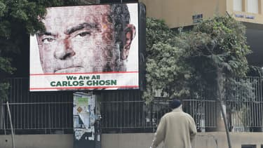 L'affiche visible dans une rue de Beyrouth, au Liban.