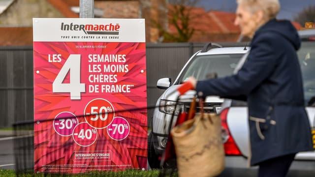 """La promotion sur le pot de Nutella intervenait lors de l'opération commerciale du distributeur, intitulée: """"Les 4 semaines les moins chères de France""""."""