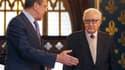 Lakhdar Brahimi (à droite) émissaire de l'Onu et de la Ligue arabe pour la paix en Syrie, a rencontré samedi à Moscou Sergueï Lavrov, ministre russe des Affaires étrangères, pour évoquer des propositions destinées à mettre fin au conflit entre le présiden