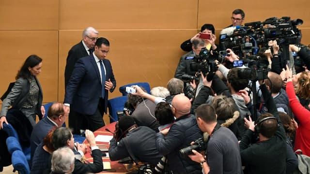Alexandre Benalla face à la commission d'enquête du Sénat.