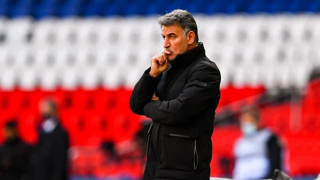 Christophe Galtier lors de PSG-Lille