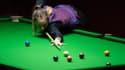 Reanne Evans lors d'un tournoi de snooker