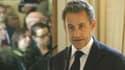Nicolas Sarkozy lors de son discours avant de remettre la Légion d'honneur au ministre belge Didier Reynders, le 27 mars 2013 à Bruxelles