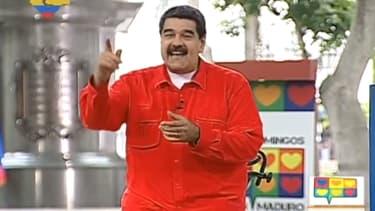 Nicolas Maduro lors de son émission hebdomadaire à la télévision officielle VTV dimanche 23 juillet.