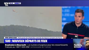"""Incendie à Rognac: le feu """"a déjà parcouru six hectares"""" et """"s'est déclenché au niveau de l'autoroute"""""""