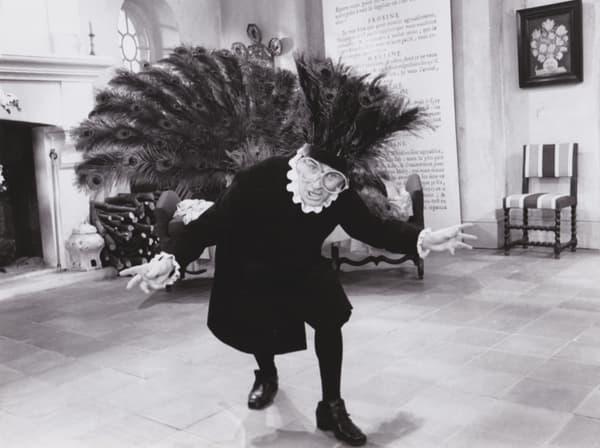 Louis de Funès sur le tournage de L'Avare
