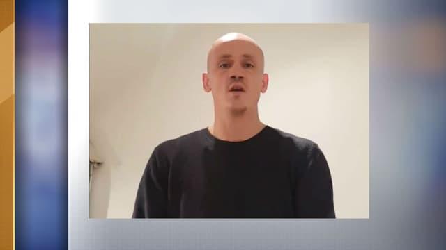 Christophe Dettinger lors d'une vidéo Facebook.