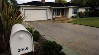 """Steve Jobs avait crée ses premiers ordinateurs """"Apple"""" dans cette maison de Los Altos, en Californie."""