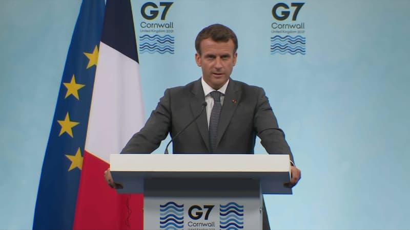 Macron dévoile les engagements du G7 pour lutter contre le Covid