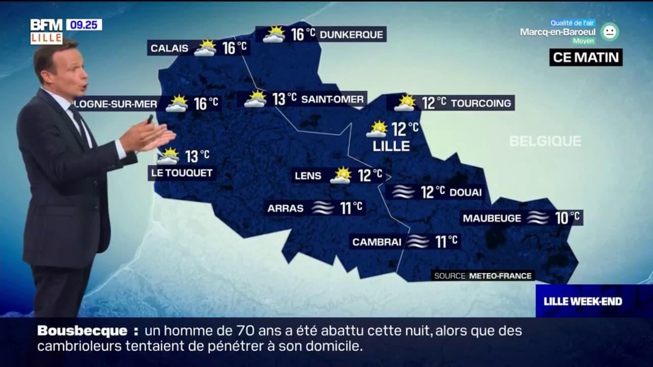 Météo: un samedi matin voilé, du soleil dans l'après-midi, jusqu'à 23°C à Lille