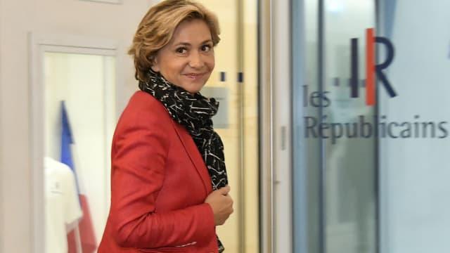 Valérie Pécresse au siège des Républicains à Paris le 29 novembre 2016.