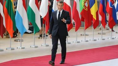 Emmanuel Macron à Bruxelles pour le sommet européen sur la crise migratoire, le 28 juin 2018