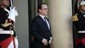 François Hollande le 8 juin sur le perron de l'Elysée.