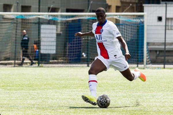 Abdoulaye Kamara avec le PSG, à Drancy le 30 août 2020