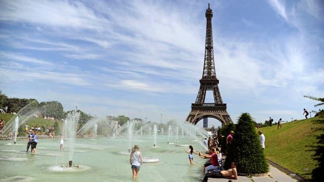 Les températures à Paris pourront atteindre jusqu'à 39°C.