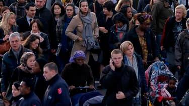 Sept Français sur 10 estiment que la France pourrait connaître une explosion sociale au cours des prochains mois, selon un sondage Ifop à paraître dans Dimanche-Ouest France. /Photo d'archives/REUTERS/Charles Platiau
