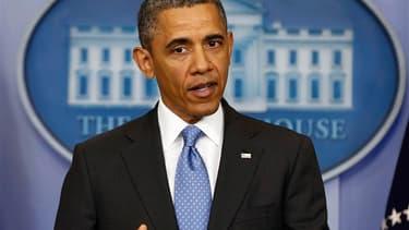 Le président américain Barack Obama a déclaré mardi que des armes chimiques avaient bien été utilisées en Syrie sans pouvoir identifier pour l'instant les auteurs de ces attaques. /Photo prise le 30 avril 2013/REUTERS/Larry Downing