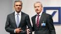 Les mandats d'Anshu Jain (à gauche) et Jürgen Fitschen devaient se terminer en 2017