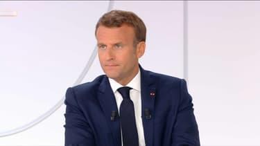 Emmanuel Macron lors de son interview télévisée du 14 juillet 2020.