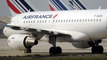 Des avions Air France sur le tarmac de l'aéroport de Roissy-Charles-de-Gaulle, le 24 septembre 2014.
