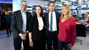 Les patrons de l'INA, France Télévisions, Radio France et France Médias Monde