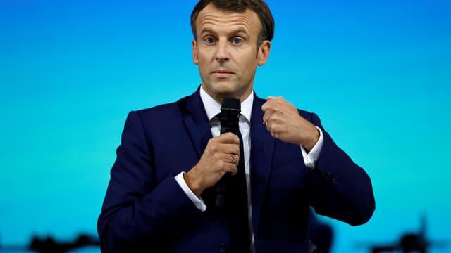 Emmanuel Macron au forum de l'égalité de l'Onu à Paris, le 30 juin 2021