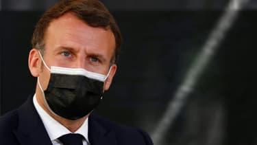 Le président Emmanuel Macron, le 19 avril 2021 à Montpellier