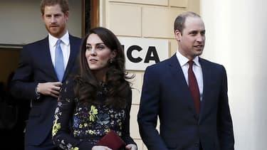Harry, Kate et William à Londres le 17 janvier 2017