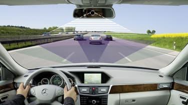 Développé par le Car2Car Communication Consortium, le système de communication entre véhicules permettra à chaque conducteur d'ajuster sa conduite en fonction d'informations communiquées par les autres véhicules présents dans un rayon de 500 mètres autour de lui.