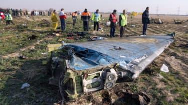 Débris du Boeing en Iran.