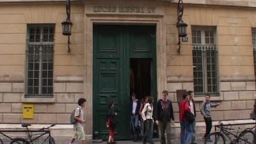 L'entrée du lycée Henri IV, à Paris.