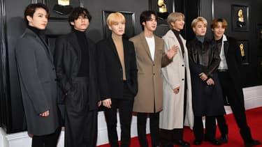 Le groupe BTS en janvier 2020 à Los Angeles
