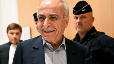 L'intermédiaire franco-libanais Ziad Takieddine le 7 octobre 2019 au Palais de justice de Paris