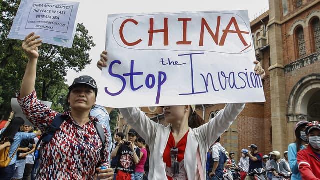 Des manifestants anti-chinois à Ho Chi Minh-Ville, le 11 mai 2014.