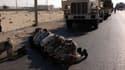 Des soldats égyptiens déployés dans le nord du Sinaï prient, le 16 juillet dernier.