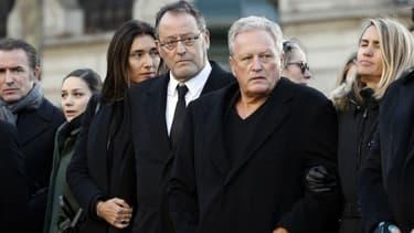 Jean Reno lors des obsèques de Johnny Hallyday à Paris, le 22 février 2018