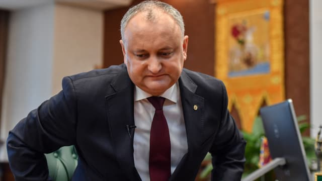 L'actuel président moldave, Igor Dogon