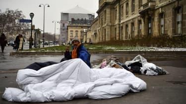 Un sans-abris à Paris lors de la précédente vague de froid, le 1er mars 2018.
