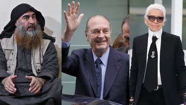 Abou Bakr al-Baghdadi, Jacques Chirac et Karl Lagerfeld sont morts dans le courant de l'année 2019