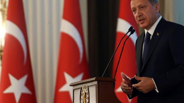 Recep Tayyip Erdogan lors de sa cérémonie d'investiture à la présidence de la Turquie, jeudi 28 août 2014, à Ankara.