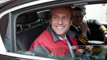 Emmanuel Macron, en visite dans l'usine Alstom de Belfort en mai 2015.