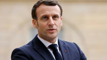 Emmanuel Macron le 4 février 2021, à l'Elysée. (Photo d'illustration)