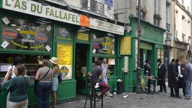 Rue des Rosiers, dans le quartier du Marais, à Paris. (photo d'illustrations)