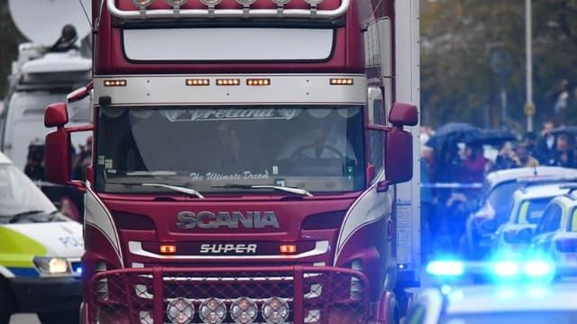 C'est dans ce camion que les 39 corps ont été découverts.