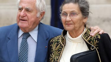 Simone Veil avec son mari, Antoine, le 16 juin 2011.