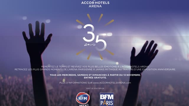 Exposition 35 ans AccorHotels Arena
