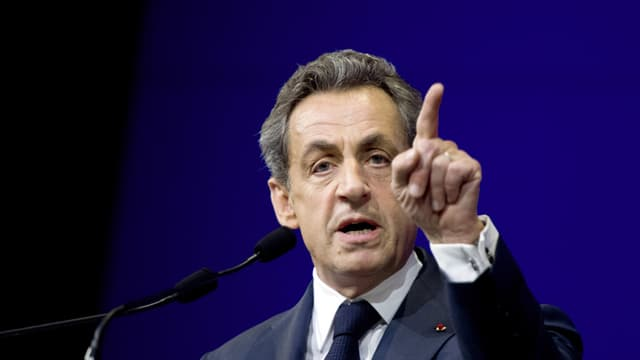 Nicolas Sarkozy au Conseil national de l'UMP, le 7 février 2015.